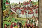 Žena obviněná z čarodějnictví na hranici v r. 1447