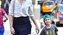 Karolína Kurková se synem