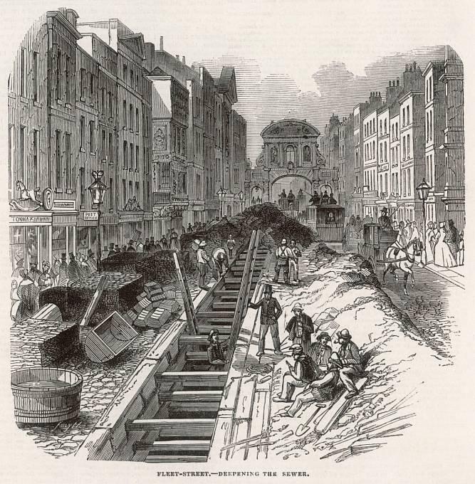 Stavba londýnské kanalizace