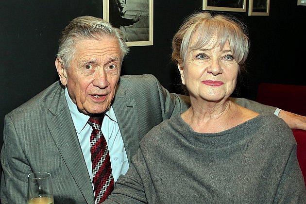 Carmen Mayerová s manželem Petrem Kostkou