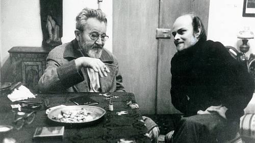 Jan Werich a Jaromír Pelc v roce 1977