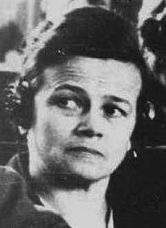 Ruth Closius-Neudeck  u soudu za válečné zločiny. Patřila k nejkrutějším dozorkyním v Ravensbrücku.