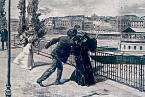 Vražda císařovny Sissi na dobové malbě