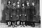 Dozorkyně z Bergen-Belsenu (zleva: Charlotte Klein, Lisbeth Fritzner, Hilde Lisiewitz, Herta Ehlert, Rosina Schieber, Elisabeth Volkenratrh).