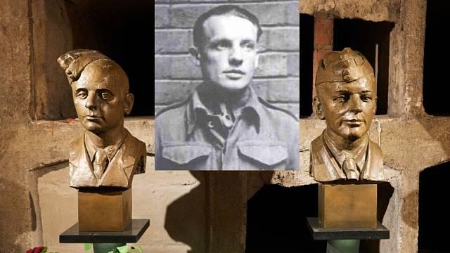 Karel Čurda (uprostřed) zradil své druhy Gabčíka a Kubiše