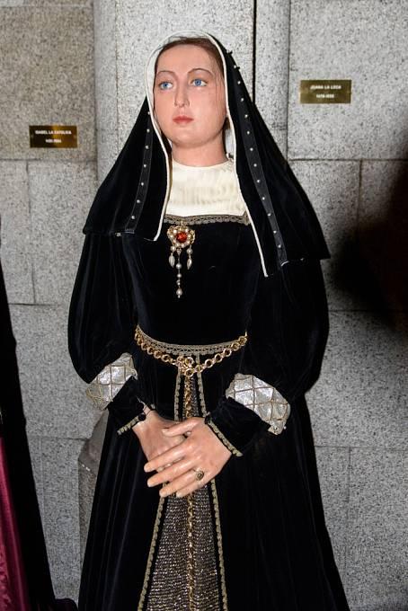 Johana Šílená v Muzeu voskových figurín v Madridu
