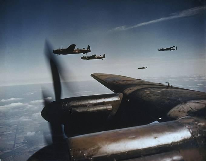 Britské bombardéry v akci