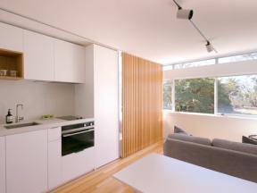 Byt o 24 m2 skýtá veškerý komfort.
