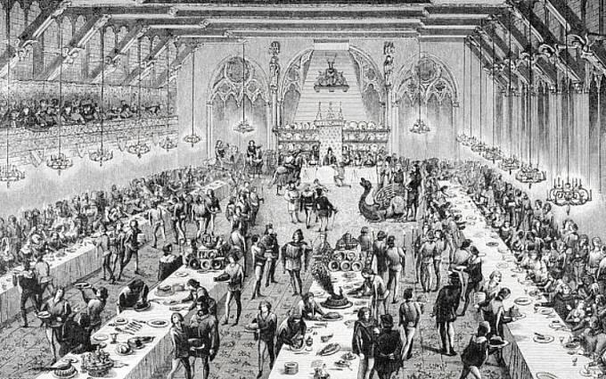 Šlechta si mohla dovolit obrovské hostiny.