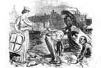 """""""Otec Temže nám představuje své děti: Záškrt, Krtici a Choleru,"""" napsal list Punch."""