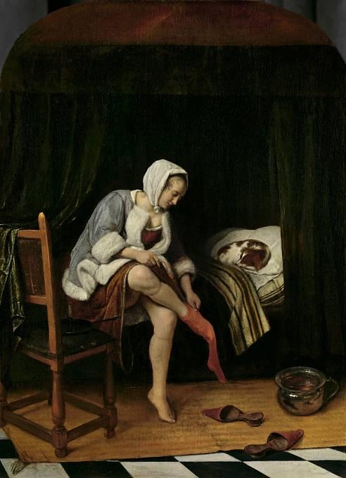 Ženy nosily několik vrstev spodniček a silné punčochy, spodní prádlo ale opomíjely.