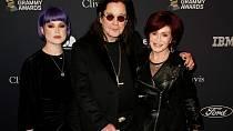 Ozzy Osbourne s manželkou Sharon a dcerou Kelly