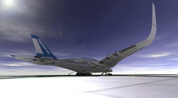 """""""Awwa sky whale"""" je nové dopravní letadlo navržené španělským designérem Oscarem Viñalsem"""