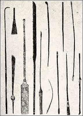 Lékařské nástroje starověkého Egypta.