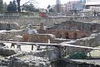 Pozůstatky římských lázní ve městě Carnuntum