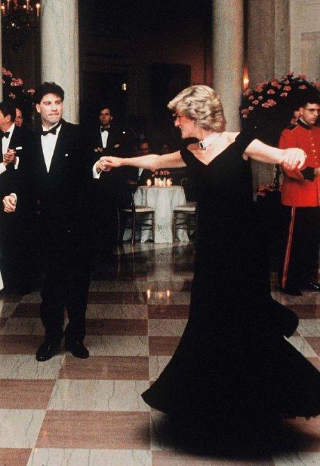 John Travolta s princeznou Dianou