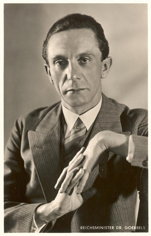 Josef Goebbels měl rovněž kideálu árijské rasy daleko.