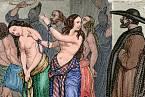 Nejčastější formou trestu za smilstvo bylo ocejchování a vymrskání.