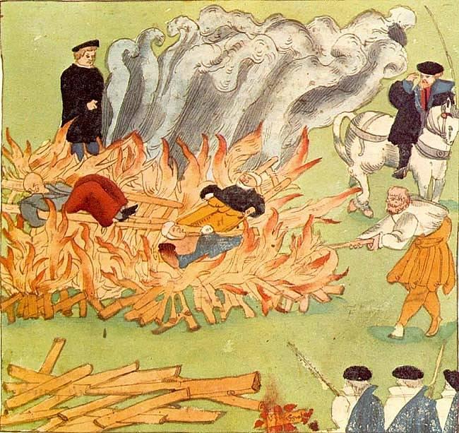 Upálení domnělých čarodějnic ve Švýcarsku