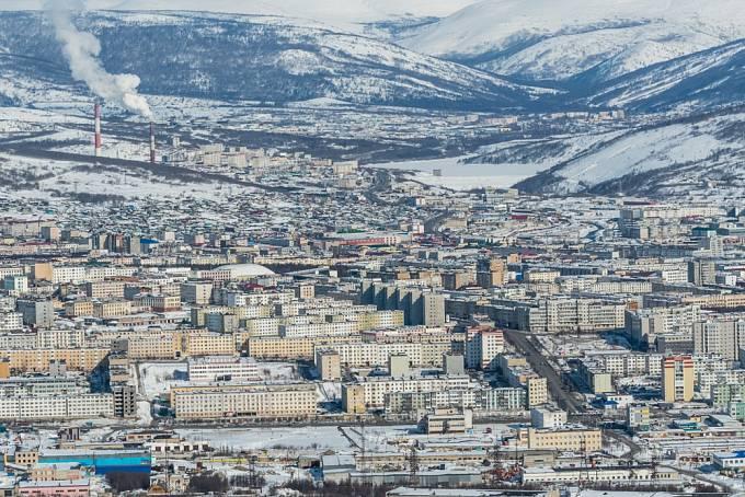 Magadan v zimě