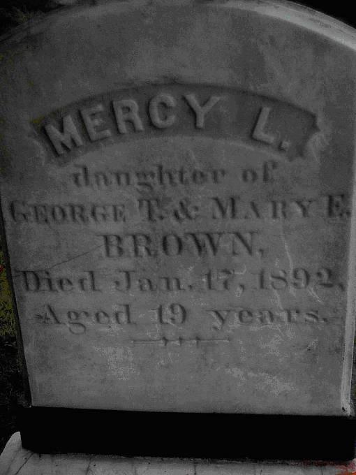 Hrob domnělé upírky Mercy Brown