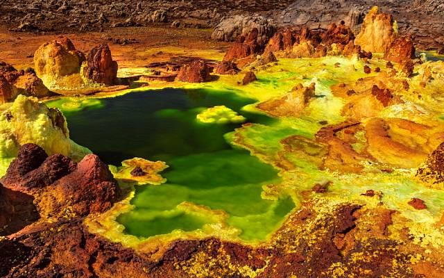 Danakilská proláklina se nachází na severu Etiopie