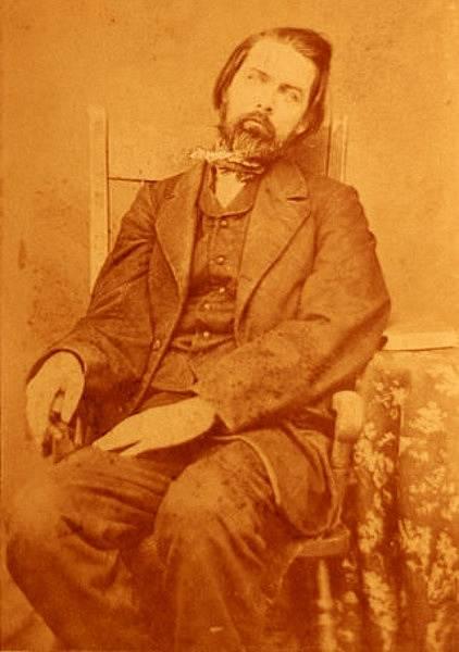 Fotografie zesnulého muže, asi 1860