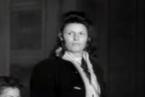 Hildegard Martha Lächert před soudním tribunálem Osvětim v Krakově.
