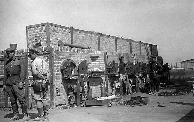 Osvobození koncentračního tábora Majdanek, léto 1944.
