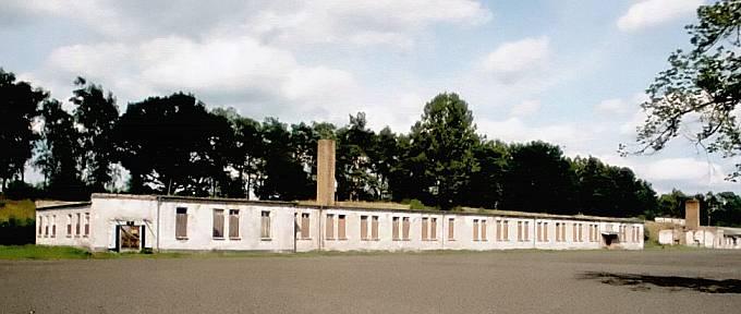 Jeden z bloků koncentračního tábora Ravensbrück.