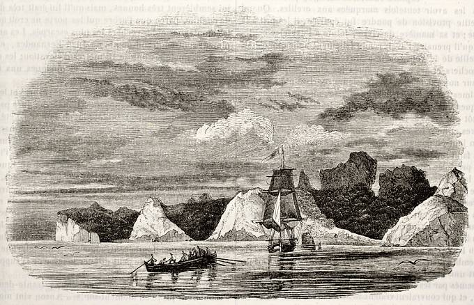 Kresba domnělého Robinsonova ostrova