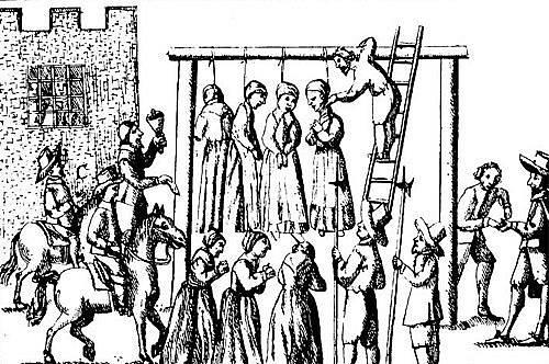 Poprava čarodějnic v Anglii v r. 1655