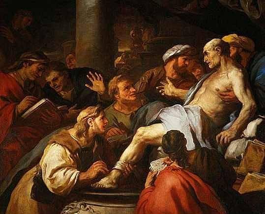 Senekova smrt od Luky Giordana