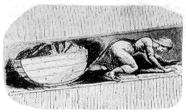 V dolech se hloubily šachty, jimiž prolezly jen děti.