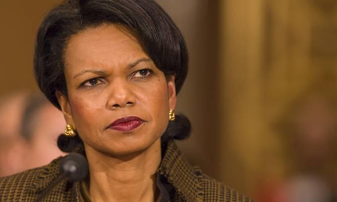 Bývalá americká ministryně zahraničí Condoleezza Rice se stala terčem Kaddáfího posedlosti.