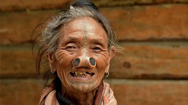 Žena kmene Apatani