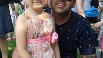 Radek Kašpárek s dcerou