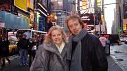 90. léta, N.Y., s manželem