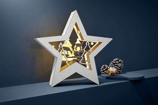 Vánoční hvězda, Tchibo, 499 Kč