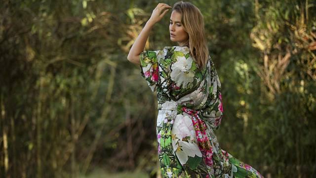 Kimono v orientálním stylu