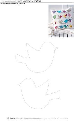 Jestli se vám naši ptáčci líbí, můžete si k nim stáhnout a vytisknout předlohu.