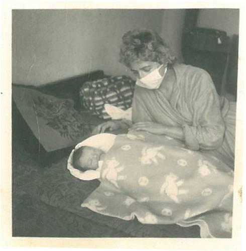 Lea Skácelová s maminkou
