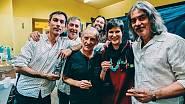 S kapelou Malina Brothers a kamarádem muzikantem Františkem Černým po koncertě v Praze.