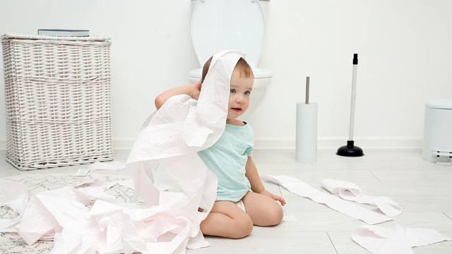 Vlhkost v koupelně a na toaletě svědčí plísním