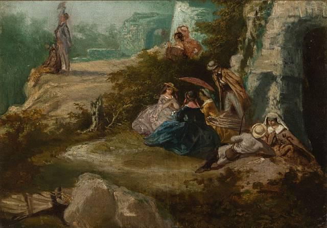 Národní galerie na výstavě Umění dlouhého století představí i Josefa Mánese. Tohle je obraz Na výletě.