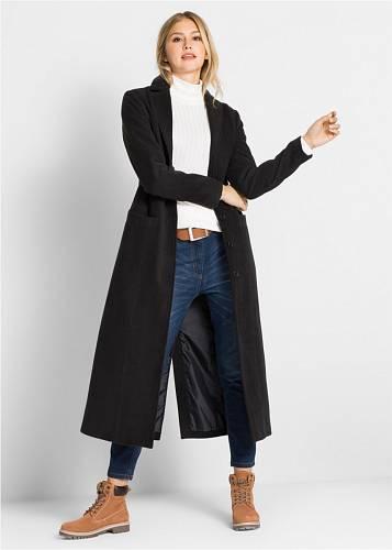 Slim džíny a dlouhý kabát, Bonprix