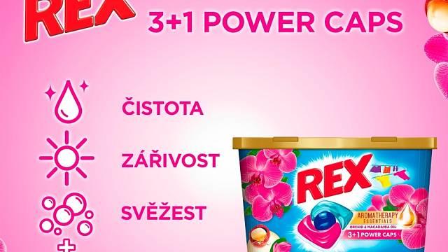 Rex Power Caps zaručují čistotu, svěžest a zářivé barvy vašeho oblečení a zároveň jej provoní vůní esenciálních olejů