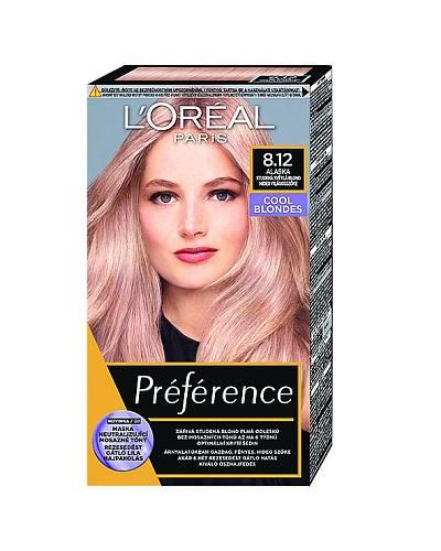 Barva odrážející aktuální trend chladných blond odstínů, plus balzám, Preference L´Oréal, 139 Kč
