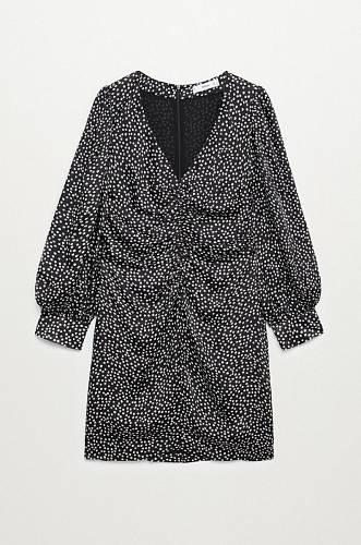 Řasené šaty, Mango, 1299 Kč