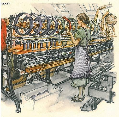 Textilní stroje dneška i minulosti uvidíte v expozici přímo v textilce v Rýmařově.  Je součástí moravskoslezského projektu technotrasa.cz.